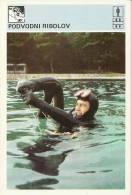 SPORT CARD No 105 - SPEARFISHING, 1981., Yugoslavia, 10 X 15 Cm - Fishing