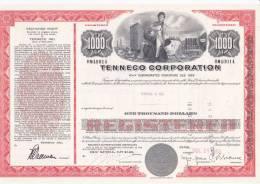 Bonds/Shares: 1969 Tenneco Corporation, Value 1000$ 6 1/4% (A 388) - Electricité & Gaz