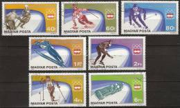 1976 Hungary - Insbruck '76 Olympic Games -  Ice Skating, Ski, Bobslee, Ice Hockey, - Winter 1976: Innsbruck