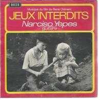 "45 Tours EP - Du Film "" JEUX INTERDITS "" ( BRIGITTE FOSSEY / GEORGES POUJOULY ) NARCISO YEPES - Soundtracks, Film Music"