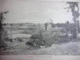 La Guerre Sino Japonaise , Ping Yang , Un Coin Du Champ De Bataille , Gravure D'aprés Dessin De Bigot 1894 - Documents Historiques