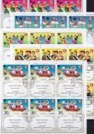 UNICEF 1979 Jahr Des Kindes Korea 1841/5Zf Plus 5xKB O 32€ Kinder Im Spiel Tanz Reigen Klavier UN Bloc Sheetlet Of Corea - Korea (...-1945)