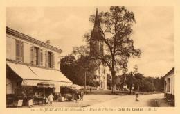 SAINT JEAN D'ILLAC (33) Place De L'église Café Du Centre Animation - France