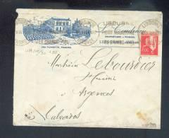 """Enveloppe 1935 Libourne """"cru Plincette, Pomerol"""" Gironde - Marcophilie (Lettres)"""