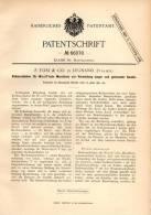 Original Patentschrift - F. Tosi & Co In Legnano / Legnan , 1891 , Motore A Vaporo , Kolbenschieber Für Dampfmaschine !! - Macchine