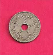 CONGO BELGIUM 1911, Circulated Coin, XF, 10 Centimes Km18 C90.063 - 1910-1934: Albert I