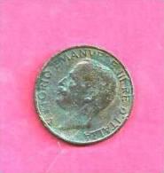 ITALY 1926, Circulated Coin, VF, 10 Centisimi, Copper Km60, C90.065 - 1861-1946 : Kingdom