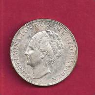 NEDERLAND 1939,  Circulated Coin, XF, 2 1/2 Gulden 0.720 Silver Wilhelmina KM165, C90.083 - [ 8] Gold And Silver Coins