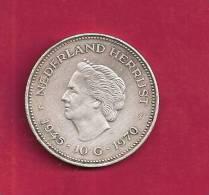 "NEDERLAND 1970,  Circulated Coin, XF, 10  Gulden ""Nederland Herrijst"" 0.720 Silver Juliana  C90.090 - [ 8] Gold And Silver Coins"