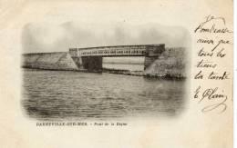 50 -BARNEVILLE- Pont De La Digue- Dos Non Divisé  1901 - Barneville