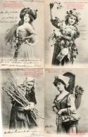 4 CPA LES 4 SAISONS. Printemps été Automne Hiver. Bergeret.1905 - Bergeret