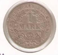 MONEDA DE PLATA DE  ALEMANIA  DE 1 MARK DEL AÑO 1874 LETRA -F (COIN) SILVER,ARGENT. - 1 Mark