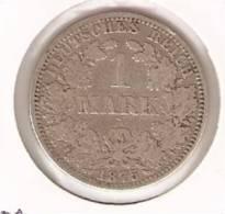 MONEDA DE PLATA DE  ALEMANIA  DE 1 MARK DEL AÑO 1875 LETRA -A (COIN) SILVER,ARGENT. - 1 Mark