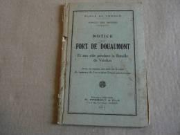 Livre Notice Sur Le Fort De DOUAUMONT + Carte Postale - 1914-18