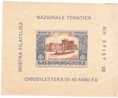 ERINNOFILO - VIGNETTA - CINDERELLA -   CHIUDILETTERA - SALSOMAGGIORE MOSTRA FILATELICA 1968 - Erinofilia