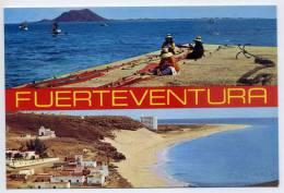 Espagne-FUERTEVENTURA--Corralejo(animée) Y Morro Jable,cpsm 10 X 15 N° 6685 éd  Islas SA - Fuerteventura