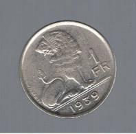 BELGIUM - BELGICA -   1  Francs   1939  KM120 - 1934-1945: Leopold III