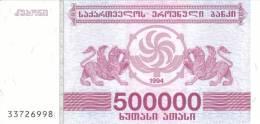Georgia P51, 500,000 Larus, Grapes,winged Lions $5CV - Georgia
