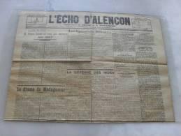 Journal L´Echo D´Alençon  Dimanche 10 Mai 1942 - Riviste & Giornali