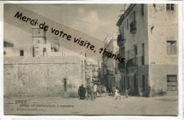 - CADIZ - Cerca De Capuchinos Y Sagasta, Animation, Rare, Non écrite, Bon état, Scans. - Cádiz