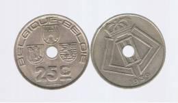 BELGIUM - BELGICA -  25  Centimes  1939  KM114 - 1934-1945: Leopold III