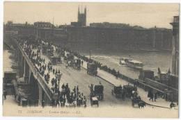 LONDON - London Bridge - River Thames