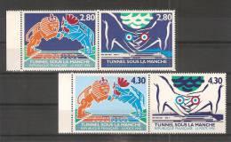 FRANCE 1994 / N° 2880/2883  BdF. Neufs** /TUNNEL Sous La Manche / ENVOI ECO. France = 0.70 Euro ! - France