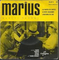 "45 Tours EP - Du Film "" MARIUS "" ( RAIMU / CHARPIN / PIERRE FRESNAY / DULLAC / VATTIER) - Filmmusik"