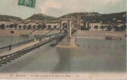 VIENNE ( Le Pont Suspendu Et Les Quais Du Rhone ) - Vienne