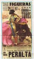 FIGUERAS CORRIDA PERALTA ORTEGA CANO 1977 - Affiches