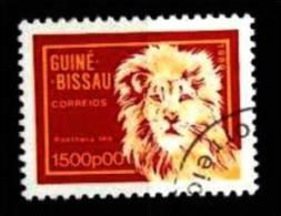 Guinea-Bissau: 'Löwe, Panthera Leo, 1989' / 'Lion', Mi. 1103; Yv. 563; Sc. 864 Oo - Big Cats (cats Of Prey)