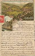 Odern Gruss Litho Rosenblatt Pub Peter Theibaud Gasthof Zum Goldenen Engel - Other Municipalities