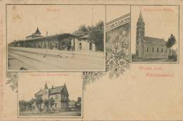 Altmunsterol Gruss 3 Vues Gare Schule Ecole Dechirure Coin Sup. Droit Edit Foerster 7845 - Other Municipalities