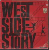 "45 Tours EP - Du Film "" WEST SIDE STORY "" ( NATALIE WOOD / GEORGE CHAKIRIS / RITA MORENO ) - Filmmusik"