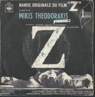 "45 Tours EP - Du Film "" Z "" ( YVES MONTAND / JEAN-LOUIS TRINTIGNANT / MAGALI NOËL / IRENE PAPAS ) - Soundtracks, Film Music"