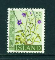 ICELAND - 1960 Flowers 50a Used (stock Scan) - 1944-... Republik