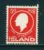 ICELAND - 1961 Jon Sigurdsson 50a Used (stock Scan) - 1944-... Republik
