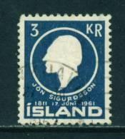 ICELAND - 1961 Jon Sigurdsson 3k Used (stock Scan) - 1944-... Republik