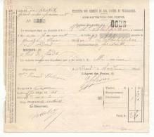 101-België  Spoorweg Chemin De Fer  Document    Stempel DOUR - Briefe & Fragmente