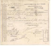 103-België  Spoorweg Chemin De Fer  Document    Stempel CHATELINEAU - Briefe & Fragmente