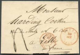 LSC De LEUZE Le 30 Octobre 1849 Vers Lille ; Taxée 4 Décimes - 8652 - 1830-1849 (Belgique Indépendante)