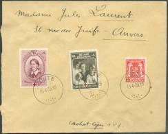 N°420-497-498 Obl. Sc ZOUTE S/L. Du 15-4-1939 Vers Anvers.  TB  - 8654 - België
