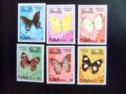 CUBA 1993 FAUNA  Mariposas Yvert & Tellier  N º 3333 / 3338 ** MNH - Papillons