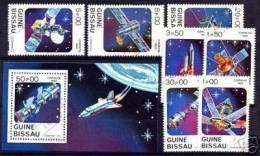 Guinea-Bissau: 'Raumfahrt, 1983' / 'Space Achievements', Mi. 666-672, Bl. 249; Yv. 187-193, BF 37; Sc. 465-472 Oo