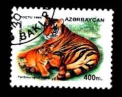 Aserbaidschan / Azerbaijan: 'Kaspischer Tiger, 1995' / 'Caspian Tiger', Mi. 273; Yv. 247; Sc. 543 Oo - Roofkatten