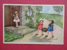 Children With Flowers  ------------ ---   Ref 856 - Enfants