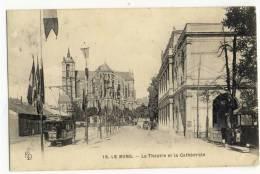 LE MANS  -  Le Théâtre Et La Cathédrale - Le Mans