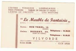 """Carte De Visite """" Le Meuble Fantaisie"""" - VILVORDE - VILVOORDE - Bruxelles (k) - Cartes De Visite"""