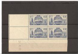 VISITE DES SOUVERAINS BRITANNIQUES  Bloc De 4 Coin Daté  N° 400.**  24.06.38 - 1930-1939
