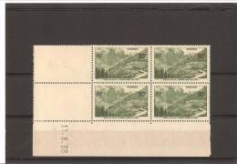 OUVERTURE DE LA ROUTE DE L'ISERAN  Bloc De 4 Coin Daté  N° 358**  11.08.38 - 1930-1939